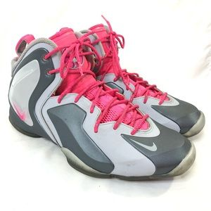 Nike lil penny pink gray flight posite sneakers/ 9
